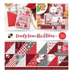 American Crafts Die Cuts With A View Candy Cane 12 x 12 in Paper Stack