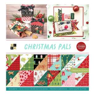 American Crafts Die Cuts With A View Xmas Pals 12 x 12 in Paper Stack