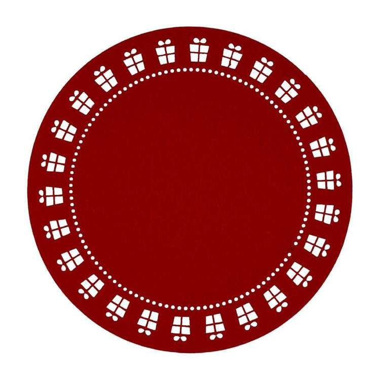 Christmas By Ladelle Presents Felt Placemat