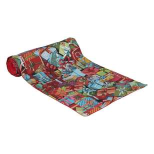Living Space Festive Presents Tapestry Table Runner