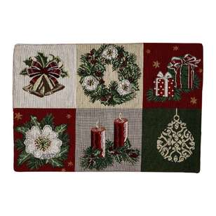 Living Space Festive Wreath Tapestry Placemat