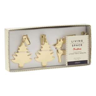 Living Space Festive Kristo Table Weights 4 Pack