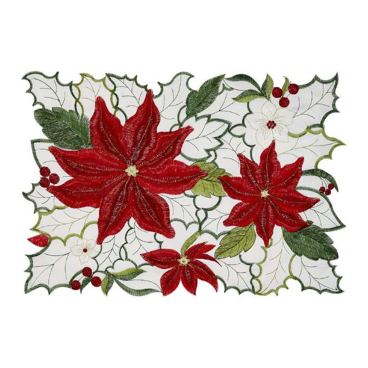 Living Space Festive Bella Embroidered Placemat