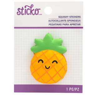 American Crafts 3D Squishy Pineapple Sticker