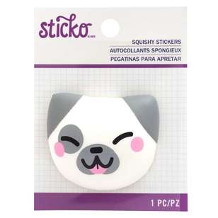 American Crafts 3D Squishy Dog Sticker
