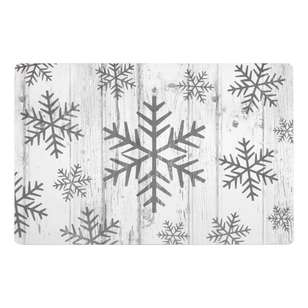 Bouclair Frozen Memories Set Of 4 Snowflake Placemat