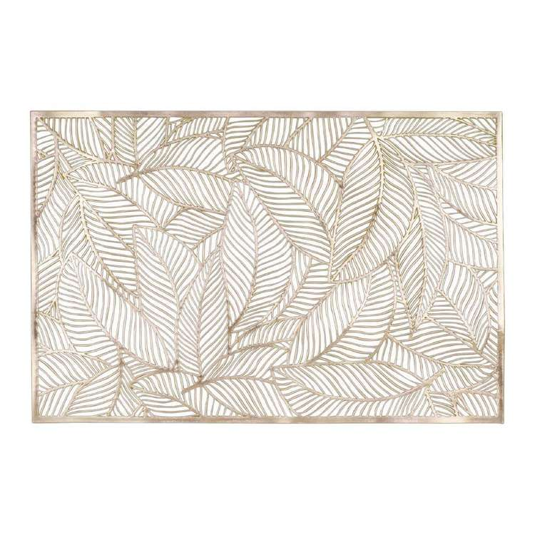 Ombre Home Boho Bloom Leaf Placemat Gold 30 x 45 cm