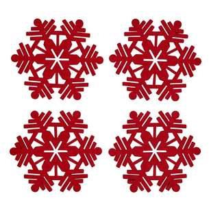 Bouclair Scandi Legend Snowflake Coasters