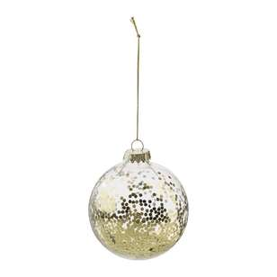 Bouclair Midnight Blue Glass Ornament With Glitter