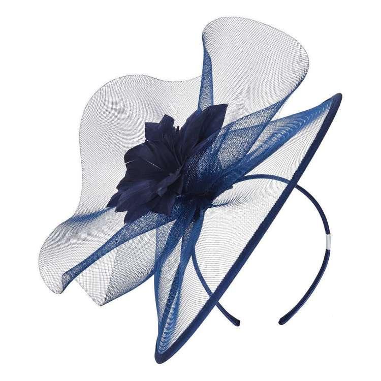 Maria George Feather Flower Crinoline Fascinator