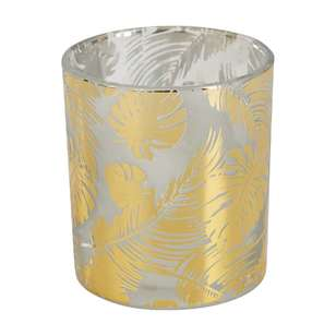 Ombre Home California Dreams Leaf Print Candle Holder
