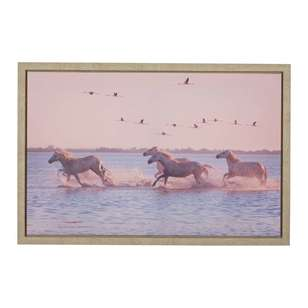 Ombre Home California Dreams Horses Canvas Print