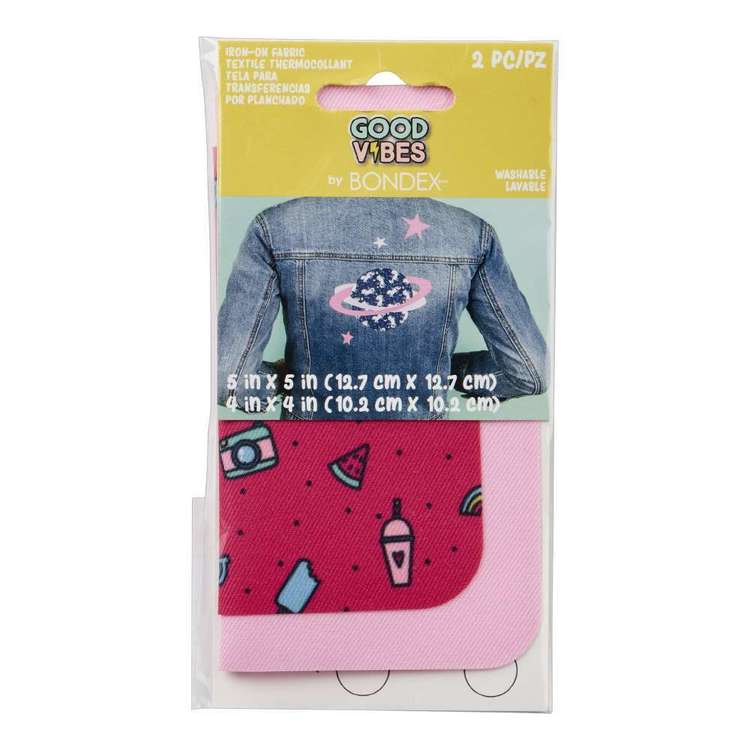 Bondex Good Vibes Iron On Fabric Pair Pop