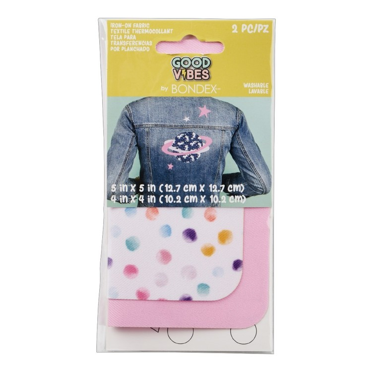 Bondex Polka Dot Iron On Fabric Patches