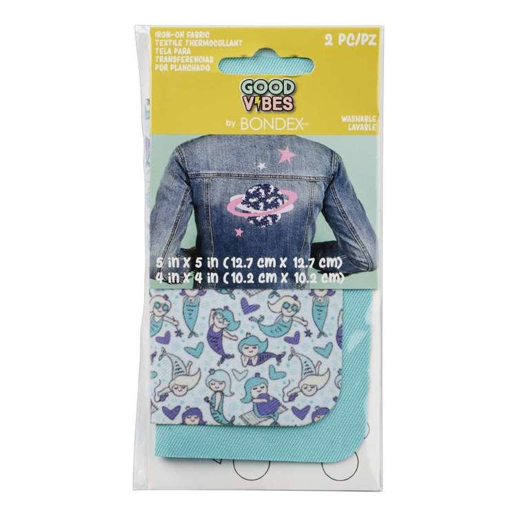 Bondex Good Vibes Iron On Fabric Pair Mermaid