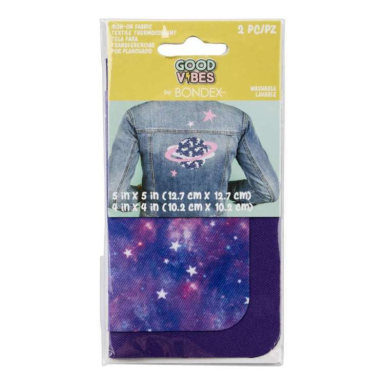 Bondex Good Vibes Iron On Fabric Pair Galaxy