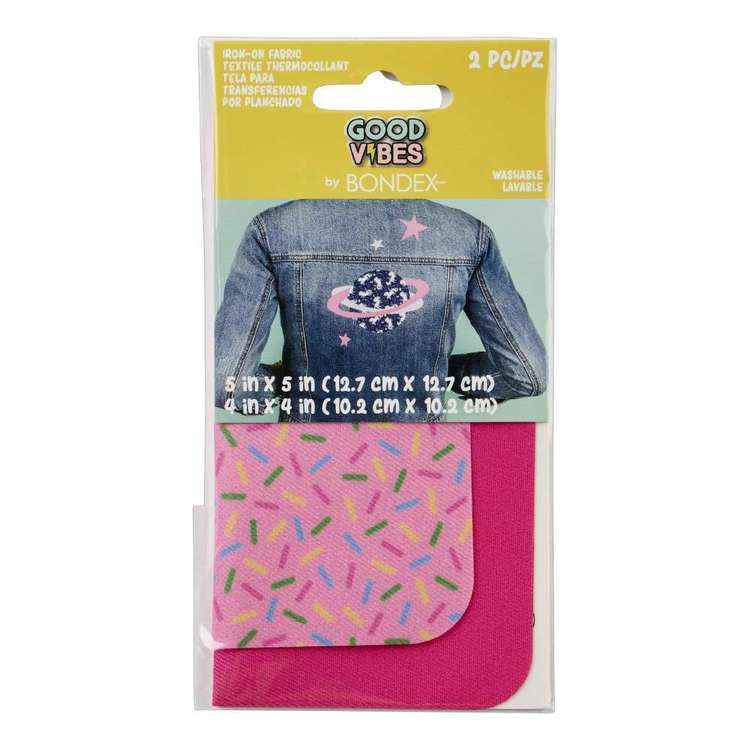 Bondex Good Vibes Iron On Fabric Pair Sprinkles