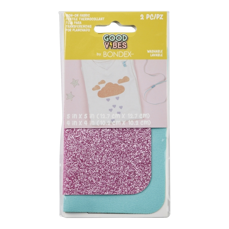 Bondex Glitter Iron On Fabric Pair