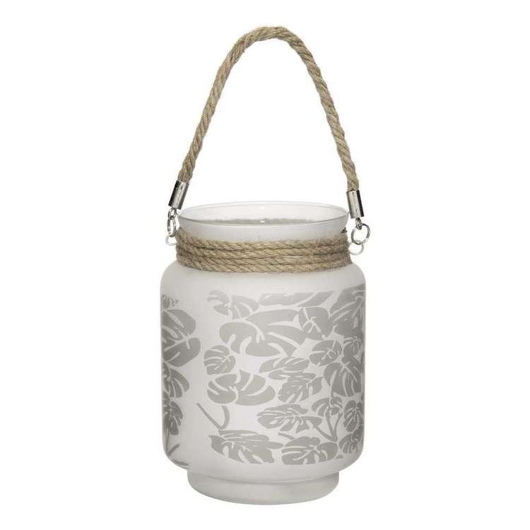 Bouclair Tropica Glass Palm Lantern Candle Holder