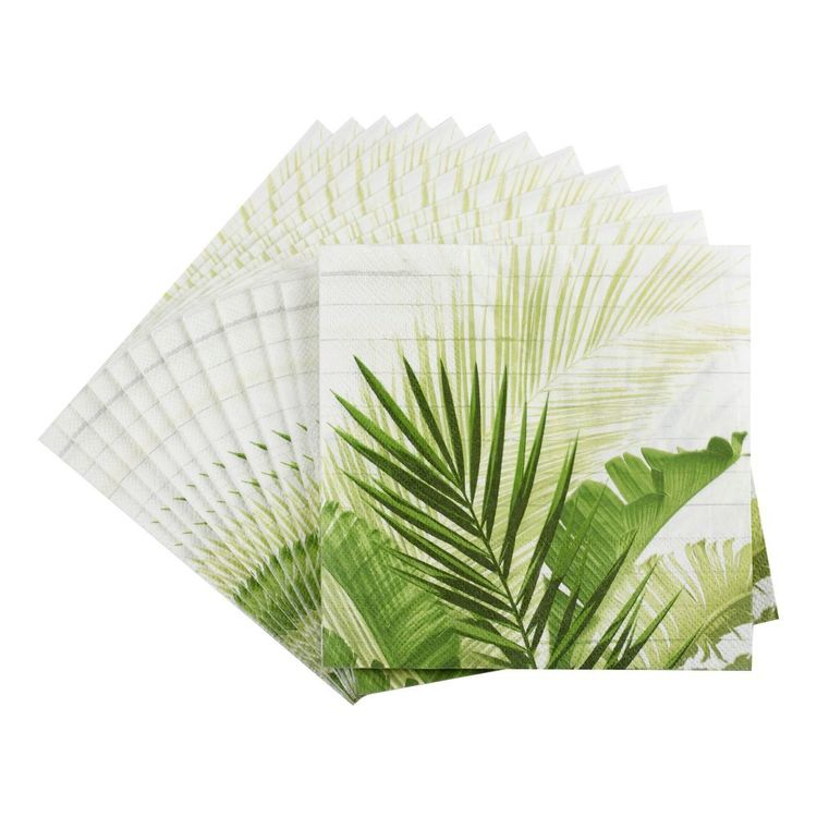 Bouclair Tropica Palm Napkin Green 33 cm