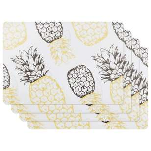Bouclair Soleado Set of 4 Pineapple Placemats
