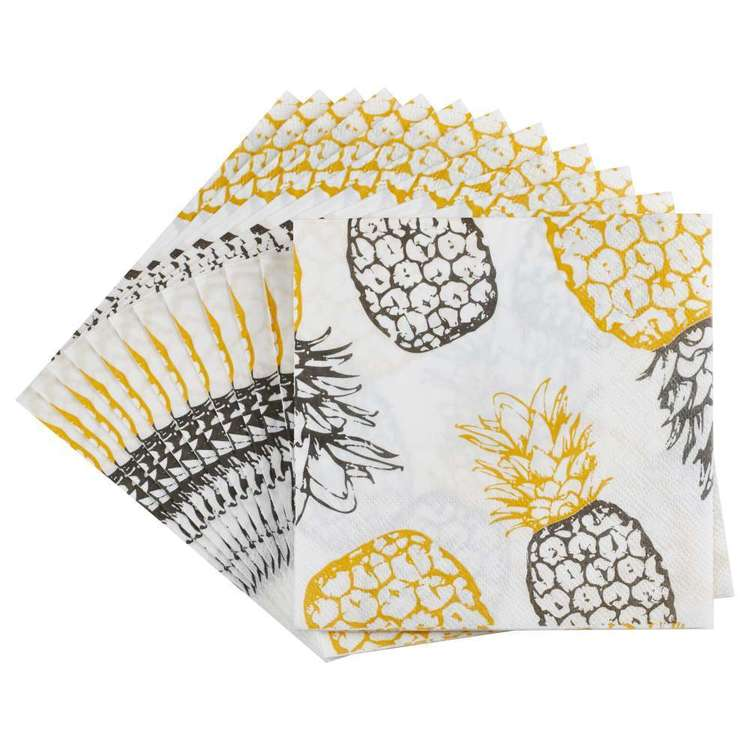Bouclair Soleado Pineapple Napkin Yellow 33 cm