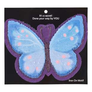 Reversible Sequin Iron On Motif Butterfly