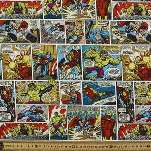 Marvel Comic Strip Allover Cotton Fabric