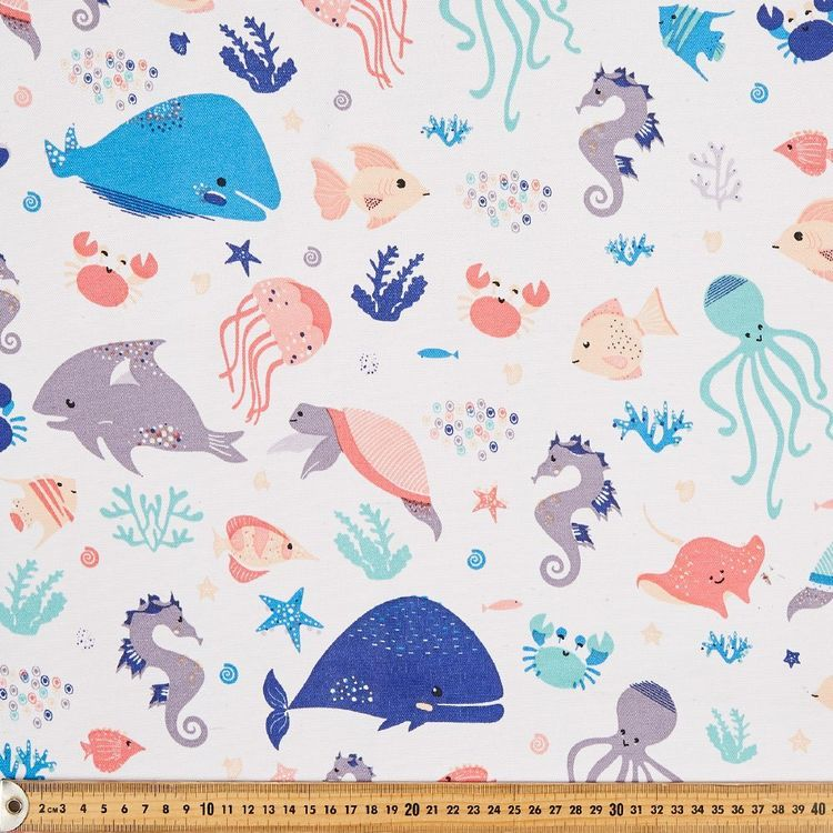 Under The Sea Thermal Curtain Fabric