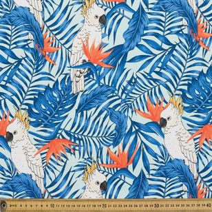 White Cockatoo Thermal Curtain Fabric