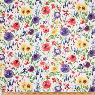 Watercolour Floral Thermal Curtain Fabric