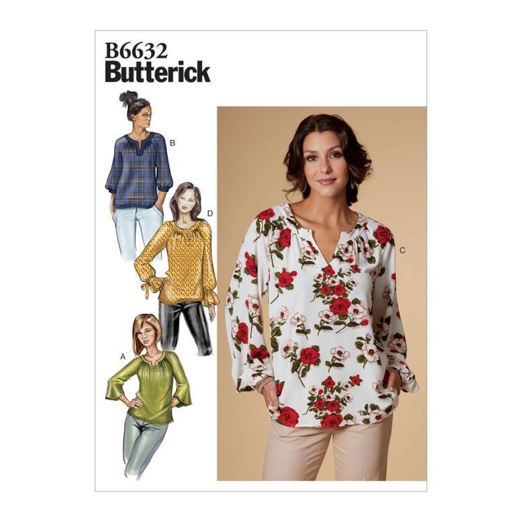 Butterick Pattern 6632 Misses' Top