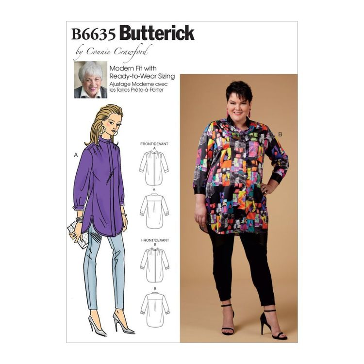 Butterick Pattern 6635 Misses', Women's Shirt