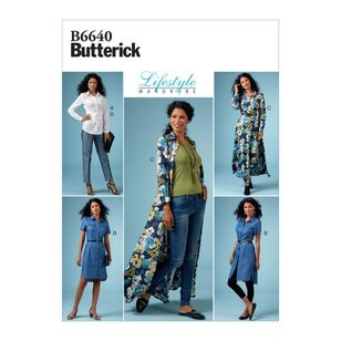 Butterick Pattern 6640 Lifestyle Wardrobe Misses'/ Misses' Petite Top, Dress and Pants