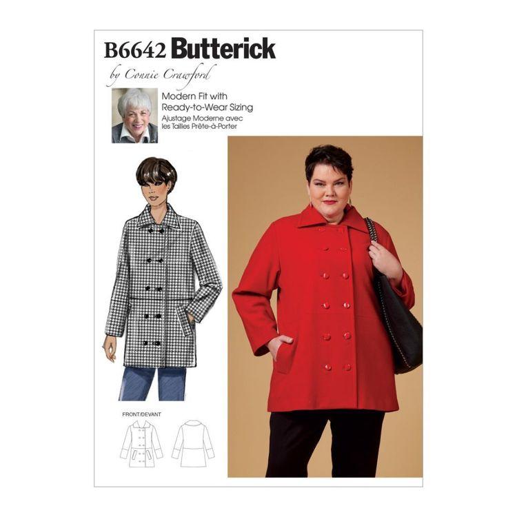 Butterick Pattern 6642 Misses', Women's Coat