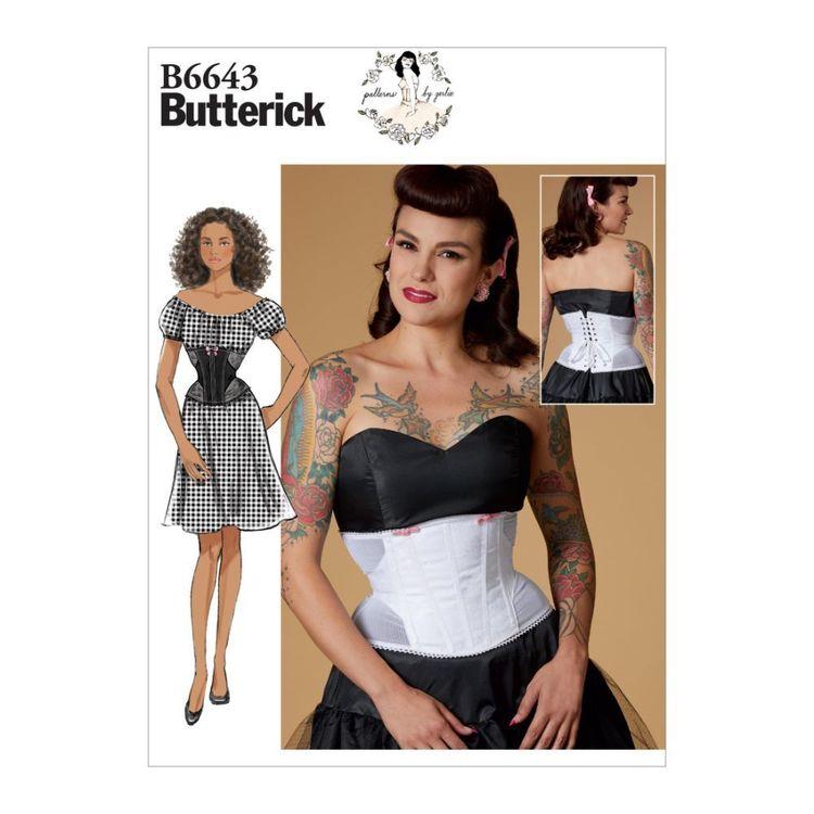 Butterick Pattern 6643 Misses' Corset