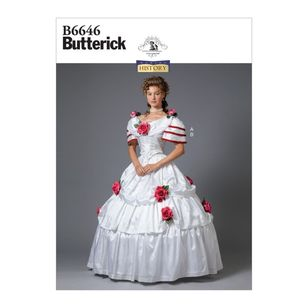 Butterick Pattern 6646 Making History Misses' Costume