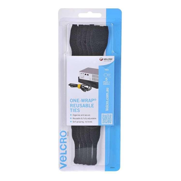 VELCRO® Brand One-Wrap Reusable Ties 5 Pack