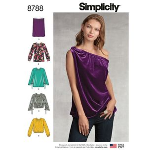 Simplicity Pattern 8788 Misses' Pullover Tops