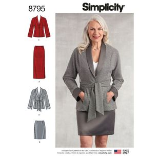 Simplicity Pattern 8795 Misses'/Miss Petite Skirts and Jackets