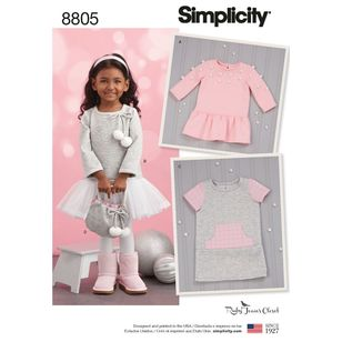 Simplicity Pattern 8805 Toddlers' Dresses & Purse from Ruby Jean's Closet