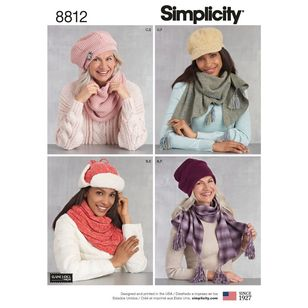 Simplicity Pattern 8812 Misses' Cold Weather Accessories
