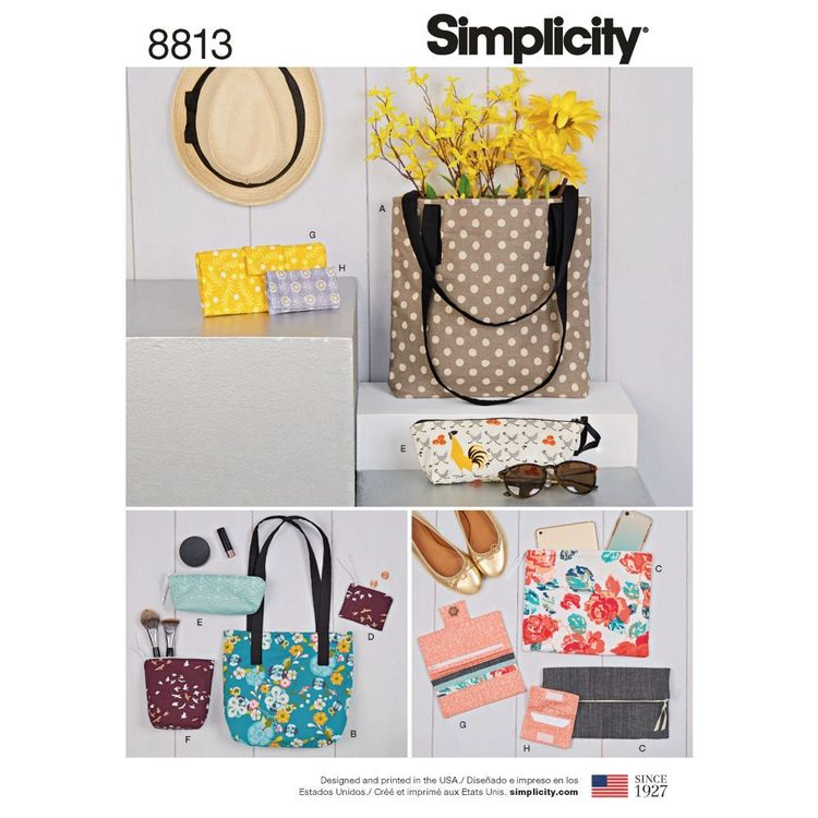 Simplicity Pattern 8813 Bags & Small Accessories