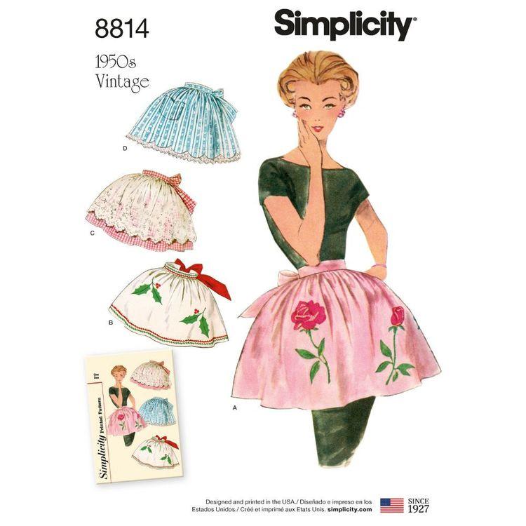 Simplicity Pattern 8814 Misses' Vintage Aprons