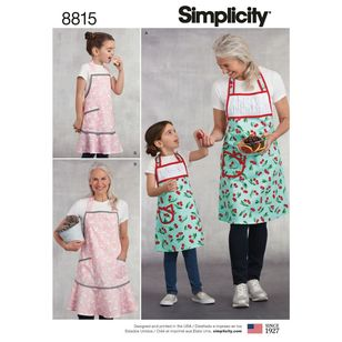 Simplicity Pattern 8815 Children's and Misses' Aprons