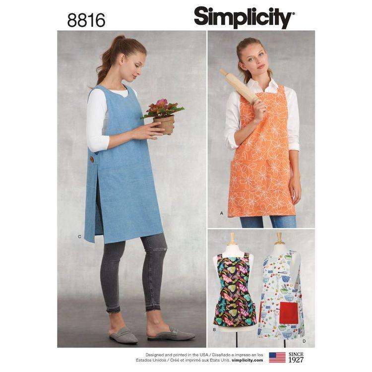 Simplicity Pattern 8816 Misses' Aprons
