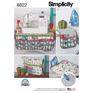 Simplicity Pattern 8822 Sewing Room Accessories