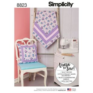 Simplicity Pattern 8823 Learn-to-Sew Quilted Blanket and Pillow