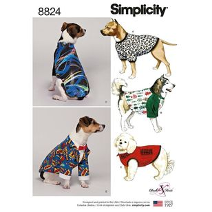 Simplicity Pattern 8824 Dog Coats in Three Sizes