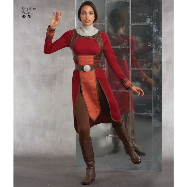 Simplicity Pattern 8825 Misses' Knit Warrior Costumes